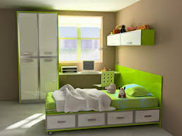 Small Bedroom With 2 Beds Furniture Brown Wooden Size Bed With Storage Head Board And