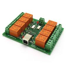 usb eight 8 relay output module switch board 12v ebay