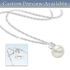 personalized granddaughter gifts precious granddaughter personalized cultured pearl pendant necklace