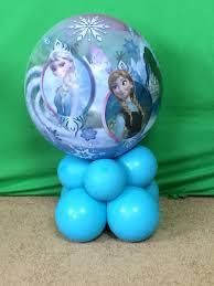 frozen balloons frozen theme centerpiece with balloons diy tutorial