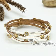 rhinestone leather wrap bracelet images Genuine leather wristbands handmade leather bracelets with buckle jpg
