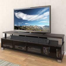 home theater furniture cabinet shop corliving bromley ravenwood black tv cabinet at lowes com