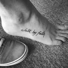 walk with faith calligraphy tattoos pictures to pin on pinterest
