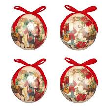 decoupage bauble tree decorations crusader gifts