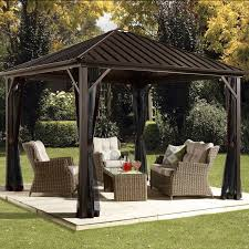 Patio Gazebos Sojag Dakota 12 Ft W X 10 Ft D Aluminum Patio Gazebo Reviews
