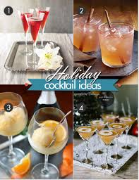 holiday cocktail recipe ideas go chic and modern