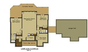 Garage Floorplans by Open House Plan With 3 Car Garage Appalachia Mountain Ii