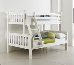 Solid Wood Bunk Beds Uk Happy Beds Bunk Bed Atlantis Pinewood White Sleeper Quality