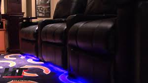 movie theater chairs for home row one led lighting package for home theater seating youtube