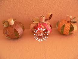 paper craft pumpkins with wine cork stems wne corks pinterest