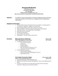 Accounting Job Resume Objective Marketing Resume Objectives Examples Sidemcicek Com