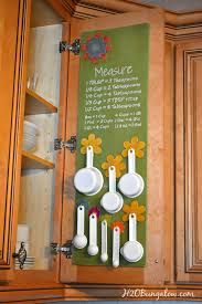 Measuring Cabinet Doors Hanging Measuring Cup And Spoon Organizer