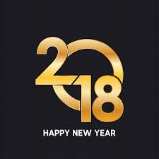 new design happy new year 2018 golden text design vector free