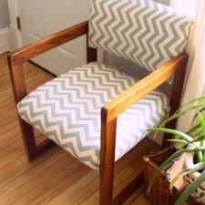 Patio Furniture Reupholstery by Decorating How To Upholster A Chair For Mid Century Chair In