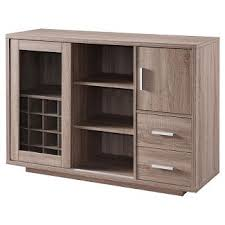 Black Hutch Buffet With Wood Top Sideboards U0026 Buffet Tables Target