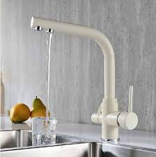 wholesale kitchen faucets wholesale sand beige kitchen faucet tri flow swivel sink