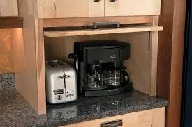 Kitchen Cabinets In Garage Schuler Cabinets Appliance Garage With Easy Lift Up Door