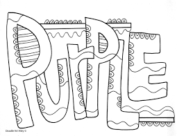 Colors Coloring Pages Classroom Doodles Green Coloring Page