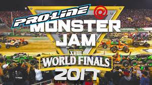 monster trucks video games pro line at the monster jam world finals 2017 youtube