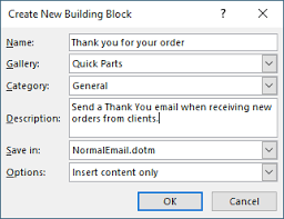 quick parts in outlook quick and easy email templates insilico