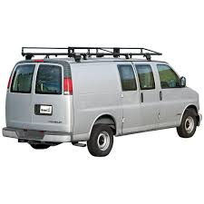 buyers products company black steel van ladder rack 1501300 the