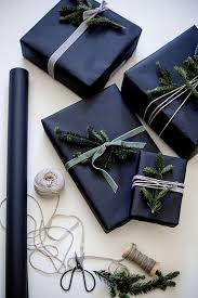 black matte wrapping paper 34 moody and christmas décor ideas digsdigs