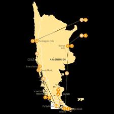 Patagonia Map Patagonia 15 Tage Wunderwelten Reise Chile Argentinien