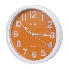 ruifa indoor quiet 8 inch precedent decorative wall clock orange