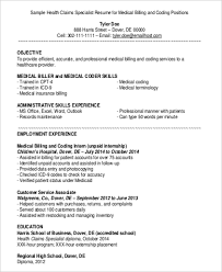 Inventory Specialist Job Description Resume Medical Billing Resume Examples Job Description For Medical
