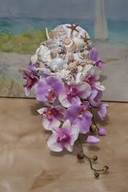 Seashell Bouquet Cascading Seashell Bouquet Ocean Bouquet Beach Bouquet Trop