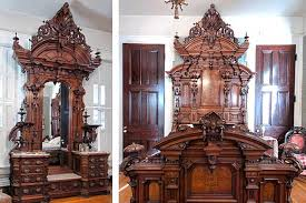 renaissance bedroom furniture c1876 two pc bedroom suite jw davis co displayed 1876