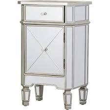 mirrored cabinet chest wayfair