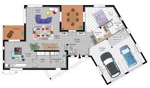plan maison plain pied 2 chambres garage plan de maison simple très fonctionnelle avec 1 chambre et un