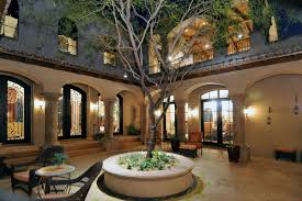 courtyard home designs spanish style house plans with unique