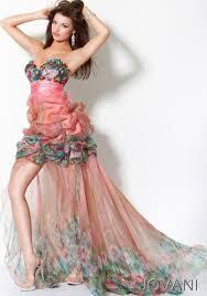 jovani pink short dress with detachable long sheer skirt 171734