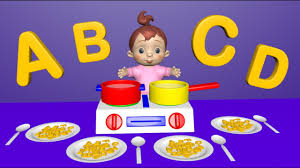 learn colors and letters with toy kitchen soup cooking baby abc