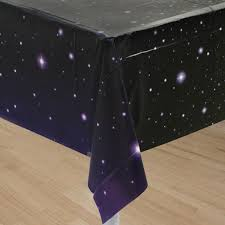 themed table cloth space party table cover