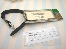 luggage tag favors silver luggage tag unique silver wedding favors silver