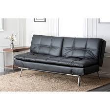abbyson living frankfurt faux leather sofa black bj u0027s