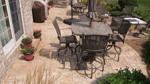 Backyard Stamped Concrete Ideas Stamped Concrete Ideas With Sealer Youtube