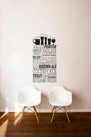 wall art picture more detailed picture about quotes wall sticker quotes wall sticker bar restaurant kitchen home decals decor beer cups wall art for bedroom mural