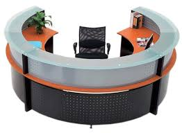 Circular Office Desk 126 Best Reception Desks Images On Pinterest Reception Desks