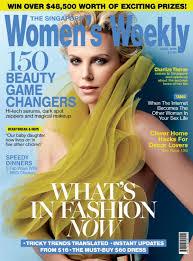 Home Decor Magazines Singapore Charlize Theron In Women U0027s Weekly Magazine Singapore April 2016