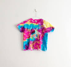 Unicorn Clothes For Girls Girls Clothing Tie Dye Shirt Unicorn Top Gift For Kids Age 3 4