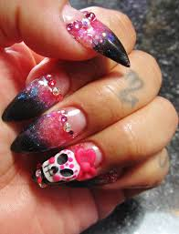 pointed acrylic nails sugar skull low smile line youtube