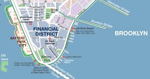 Map Of Manhattan Neighborhoods New York Financial District Map New York Map