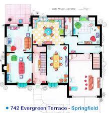 simpsons house floor plan simpsons floor plan first floor xpost r interestingasfuck imgur