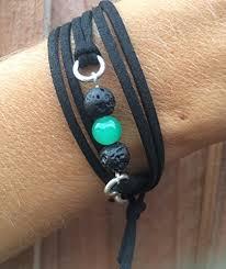 wrap bracelet with charms images Essential oil lava bead diffuser bracelet vegan friendly faux jpg