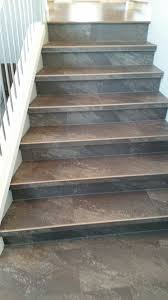 Laminate Flooring On Stairs Nosing Luxury Vinyl Tile Installed With Custom Insert Stair Nosings