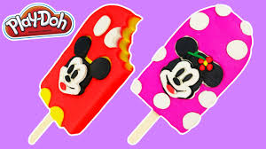 play doh mickey mouse u0026 minnie mouse popsicles fun u0026 easy